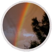 Free Rainbow 2 Round Beach Towel