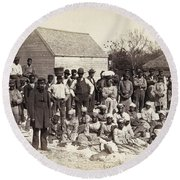 Freed Slaves, 1862 Round Beach Towel