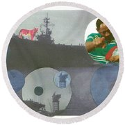 Freedom From Fear Round Beach Towel