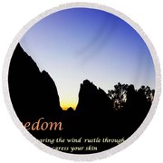 Freedom Means 002 Round Beach Towel