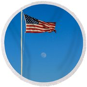 Freedom Round Beach Towel by Robert Bales