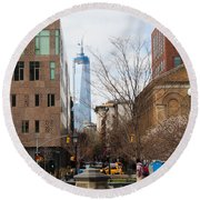 Freedom Tower From Washington Square Round Beach Towel