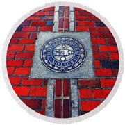Freedom Trail Round Beach Towel