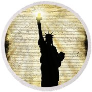 Freedoms Light Round Beach Towel