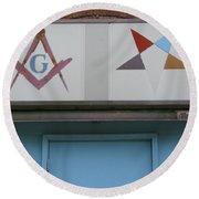 Freemasons Round Beach Towel