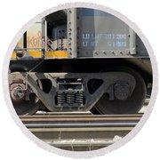 Freight Train Wheels 1 Round Beach Towel