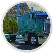 Freightliner Cabover Round Beach Towel