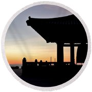 Freindship Bell Round Beach Towel