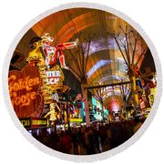 Fremont Street Experience Lights Round Beach Towel
