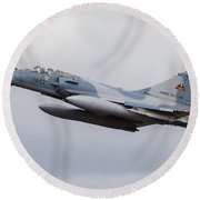 French Air Force Mirage 2000c Fighter Round Beach Towel