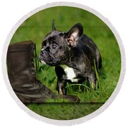 French Bulldogs Round Beach Towel by Heike Hultsch