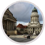 French Cathedral And Concert Hall - Berlin  Round Beach Towel
