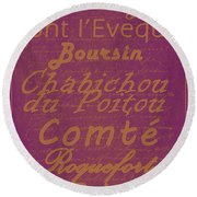 French Cheeses - 3 Round Beach Towel
