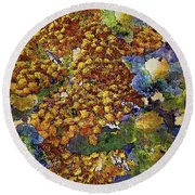 French Country Print Round Beach Towel