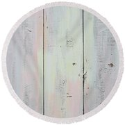 French Door In California Round Beach Towel by Asha Carolyn Young