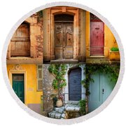 French Doors Round Beach Towel by Inge Johnsson