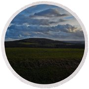 French Hills Round Beach Towel