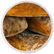 French Loaves Round Beach Towel