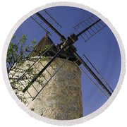 French Moulin Round Beach Towel