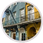 French Quarter Flair Round Beach Towel