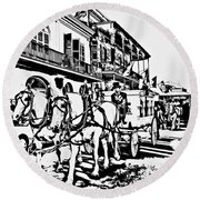 French Quarter - The Final Ride Round Beach Towel