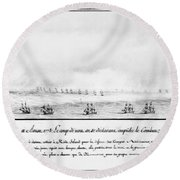 French Squadron, 1778 Round Beach Towel