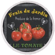 French Vegetables 1 Round Beach Towel