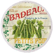 French Veggie Sign 1 Round Beach Towel by Debbie DeWitt