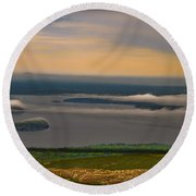 Frenchman Bay And The Porcupine Islands Round Beach Towel