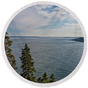 Frenchman Bay Round Beach Towel