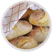 Fresh Bread Round Beach Towel by Carlos Caetano