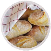 Fresh Bread Round Beach Towel
