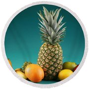 Fresh Fruit Round Beach Towel