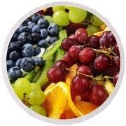 Fresh Fruits Round Beach Towel