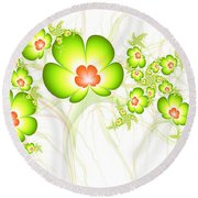 Fresh Green Round Beach Towel