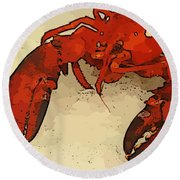 Fresh Lobster Round Beach Towel