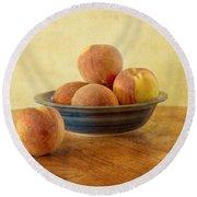 Fresh Peaches Round Beach Towel