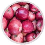 Fresh Red Apples Round Beach Towel