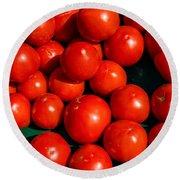 Fresh Ripe Red Tomatoes Round Beach Towel