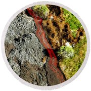 Fresh River Of Lave Round Beach Towel
