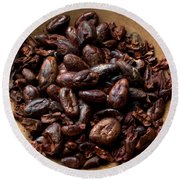 Fresh Roasted Cocoa Beans - Nibs Round Beach Towel