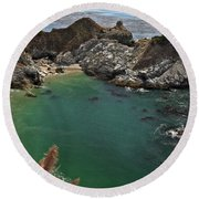 Fresh Water Into The Bay Round Beach Towel by Adam Jewell