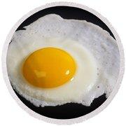 Fried Egg Round Beach Towel