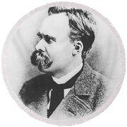 Friedrich Wilhelm Nietzsche In 1883 Round Beach Towel