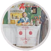 Friends From The Town - Dining Room Round Beach Towel