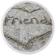 Friends Round Beach Towel