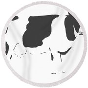 Friesian Cow Round Beach Towel