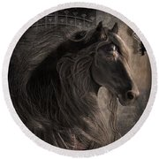 Friesian Glow Round Beach Towel