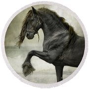 Friesian Surf  Round Beach Towel