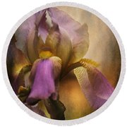 Frilled Beauty Round Beach Towel